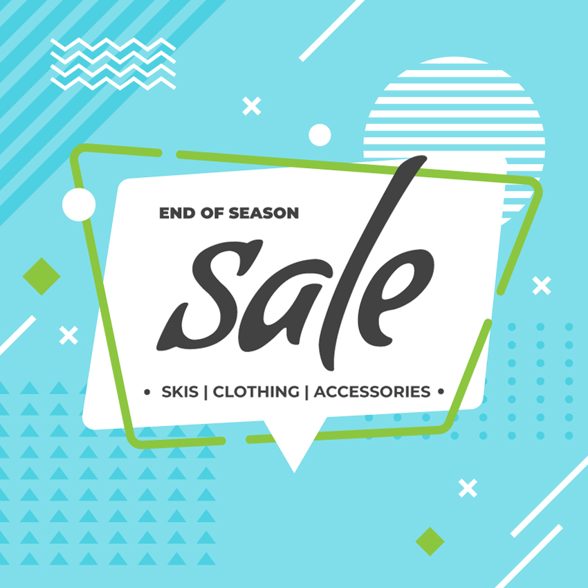 2018 End of the Season Sale on Skis, Clothing, & Accessories